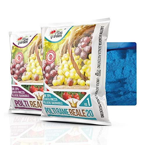 Albagarden - Piante Frutta Naturale Bio Polti20 Biologico Bordolese Rame + Boro Orto Vite Peronospora Oidio Verderame Solfato Ossicloruro x 1 kg