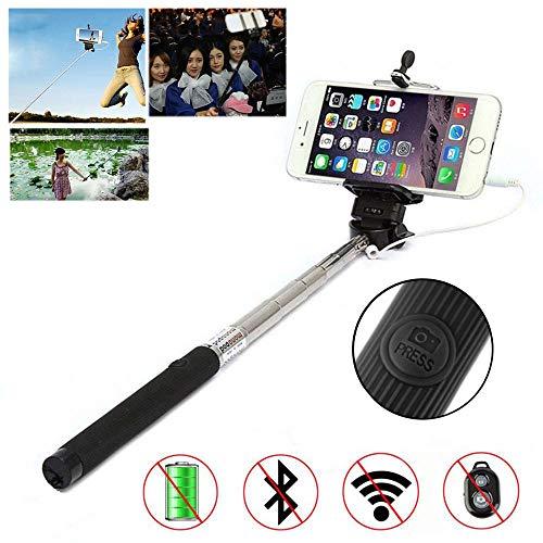 Porum Selfie Stick per Smartphone, Cavo Handhled monopiede autoritratto monopiede palo, allungabile Selfie Stick con Supporto Regolabile per Microsoft Lumia 535