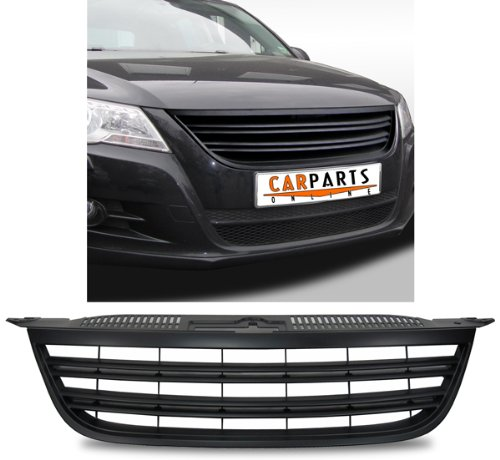Carparts-Online 20434 Kühlergrill Sport Grill ohne Emblem mit Doppelrippe schwarz