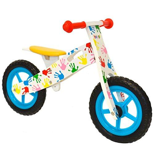 boppi® Bici sin Pedales de Madera para niños de 3-5 años - Manos Estampadas de Colores
