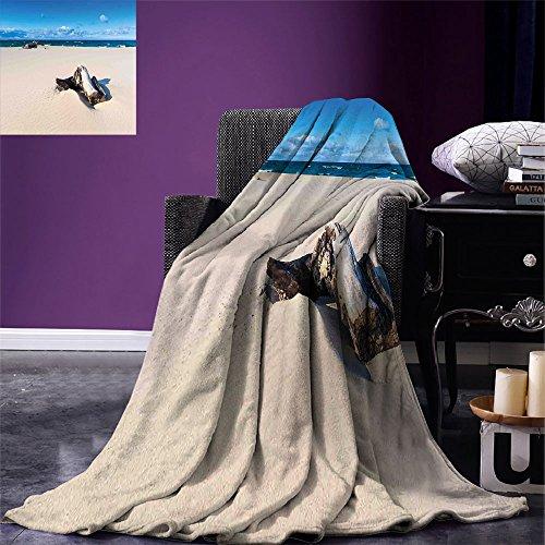Manta de microfibra para cama o sofá, diseño de bosque en la costa con reflejo de las montañas en el lago