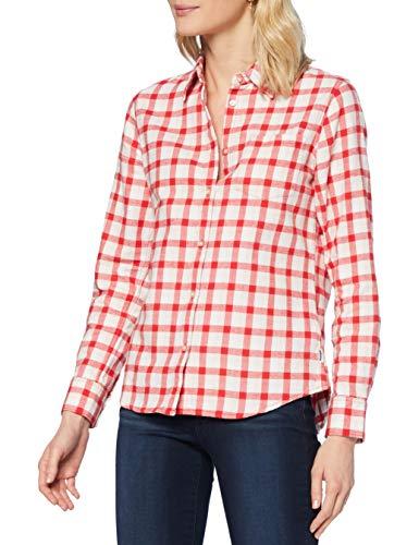 Wrangler LS 1PKT Shirt Camisa, Lollipop Red, M para Mujer
