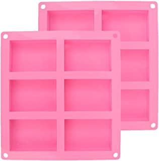 Moulle Silicone Rectangulaire, Lot de 2 moules à savon rectangulaires en silicone – Avec 6 cavités – Pour la fabrication d...