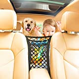 AXELECT Car Net Organizer, 3-Layer Upgrade Barrier of Backseat for Children and Pet Dog, Auto Elastic Mesh Organizer, Car Net Pocket Handbag Holder Driver Storage Netting Pouch for Purse