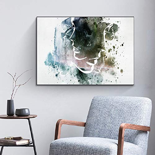 N / A Abstrakte Aquarellfigur Malerei Plakat Leinwand Malerei dekorative Wandkunst Malerei...
