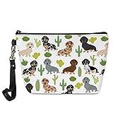 Mumeson Lightweight Portable Travel Cosmetic Bag Tropical Dachshund Make Up Toiletry Organizer Bag