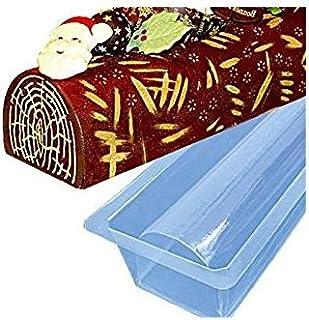 Moule à bûche gouttière PVC 50x8x5 cm x12 pièces/il Peut être congelé et réutilisé