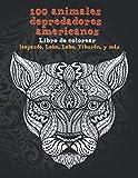 100 animales depredadores americanos - Libro de colorear - leopardo, León, Lobo, Tiburón, y más