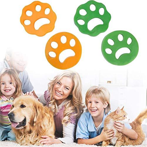 Tonsooze Bola De Limpieza De Ropa, Bola De Limpieza De Ropa Depiladora de mascotas lavadora quitar pelo mascotas Reutilizable e Hipoalergénica para pelo de perro y piel de gato (4 piezas)