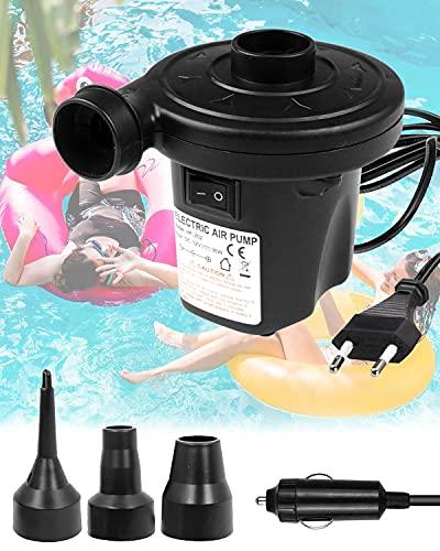 E-Smarter - Bomba eléctrica 2 en 1, inflador eléctrico para casa, Coche,...