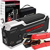 AUTOGEN 4000A Car Jump Starter (10.0L+ Gas & Diesel), 12V Portable Battery Jumper Box Booster Pack for Cars, SUVs, Trucks. Quick Charge 3.0 Charger