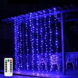 2 m x 2 m, IP65, resistente al agua, 200 ledes, cortina de cadena de luces para Navidad