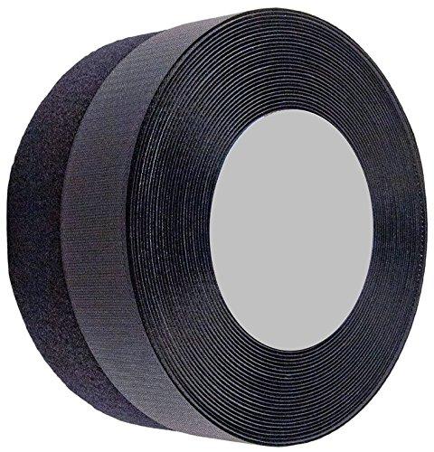 Sea Star 2 inch 26 Yards Black Sew on Hook and Loop Sew On Fasteners(26 Yards, Black)