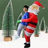 Chirsemey Père Noël Gonflable - Père Noël Lumineux Exterieur, Décorations De Noël, Décorations De Jardin Ou De Maison, Intérieur Ou Extérieur, pour Costume Cosplay Party Everywhere