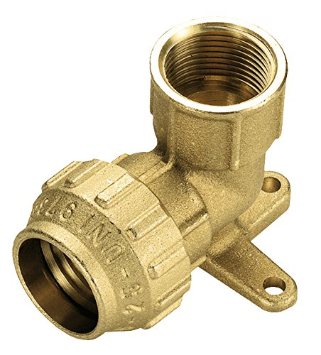 Cornat Bewässerungsrohre Messing Wandscheibe für PE HD-Rohr, A 20 mm, B 1/2 Zoll Innengewinde, Mehrfarbig