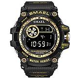 SDEWQ Relojes Hombre, Reloj Militar Deportivos Digital Impermeable LED Cronometro con Alarma/Cuenta Regresiva/ 12/24H para Hombre Los Mejores Regalos