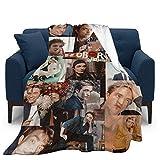 Robert Pattinson Edward Cullen Ultraweiche Micro-Fleece-Überwurf-Decken für Zuhause, Couch, Bett, Sofa, gemütlich, warm, 3D-gedruckte Decke für Kinder und Erwachsene, 127,7 x 101,6 cm