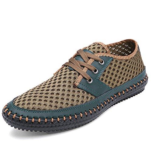 UKRIS Men's Breathable Poseidon Mesh Walking Shoes Casual Water Shoes (8.5D(M) US/EU 41, Green)