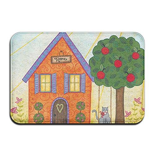 Cartoon schattig kleinkinderen hield hier tuin vlag mooi gepersonaliseerd deur matten outdoor deurmatten voor voordeur deurmat slaapkamer grappige deurmatten