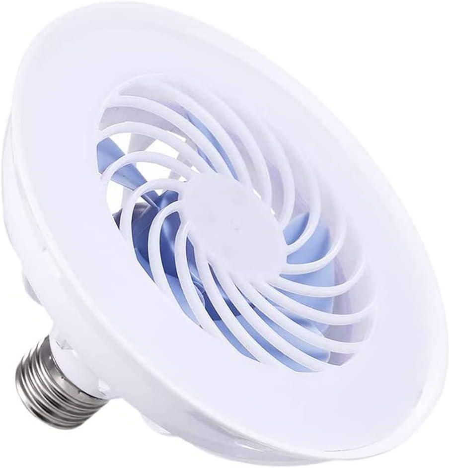 MYJHUIY Ventilador de techo Universal AC 220V 12W E27 con lámpara Led, bombilla Led 2 en 1, ventilador eléctrico para el hogar y la Oficina, mercado nocturno