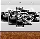 zlhcich Leinwand HD Print Poster Wandkunst Bild Gewichtheben und Bodybuilding Malerei Gym Dekoration...