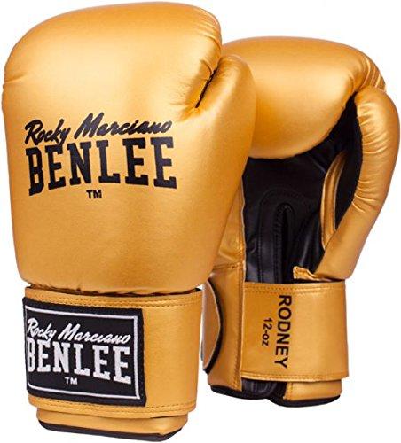 BENLEE Rocky Marciano - Guantoni Rodney da Pugilato in Poliuretano, per Allenamento, Colore: Oro/Nero
