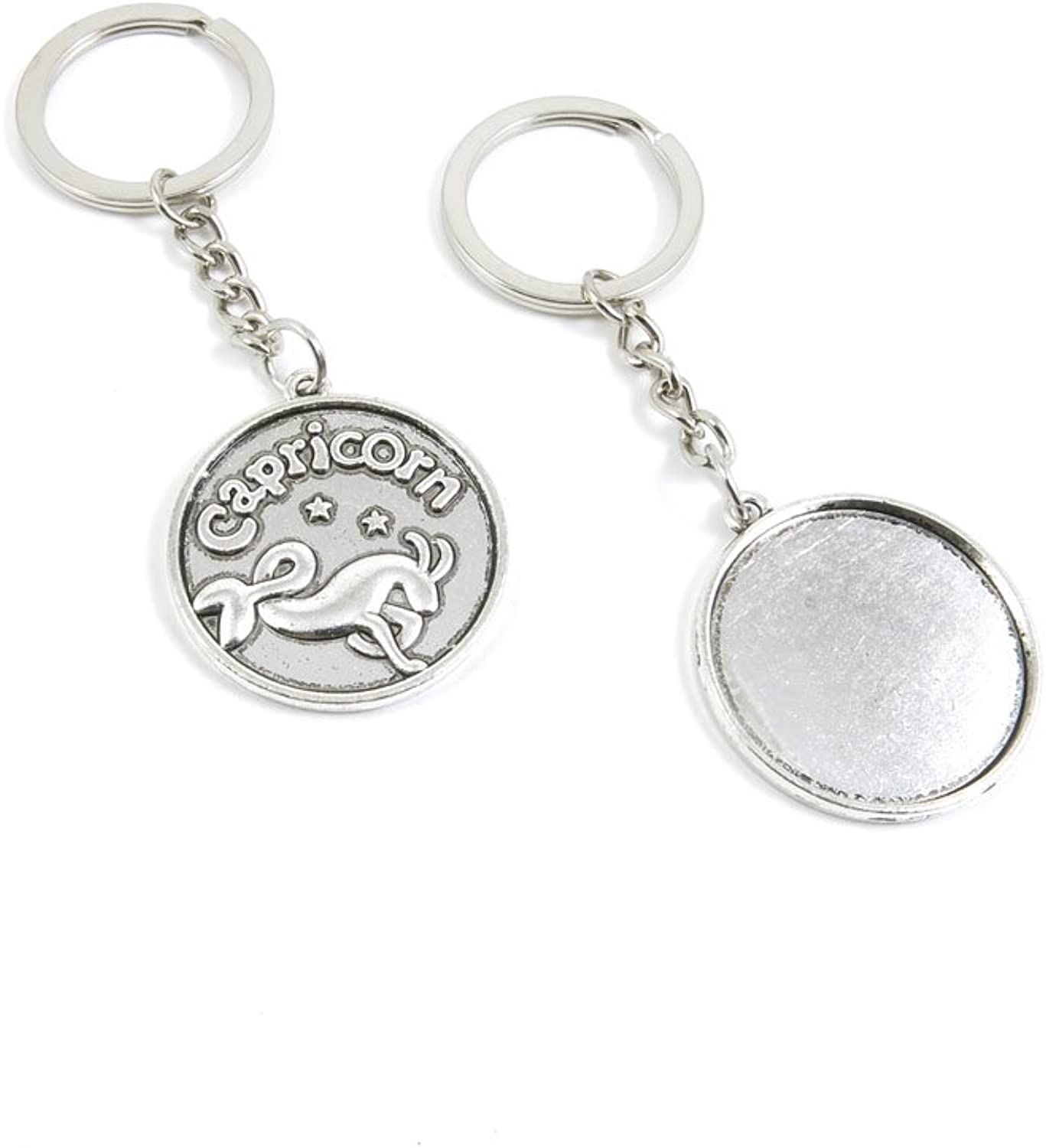 140 Pieces Fashion Jewelry Keyring Keychain Door Car Key Tag Ring Chain Supplier Supply Wholesale Bulk Lots Z1VI5 Capricorn Round Cabochon Base