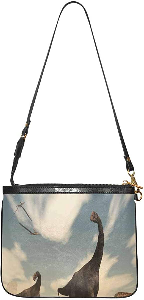InterestPrint Small Crossbody Bag Travel Purse and Handbag with Strap for Women Bright Red Flamingo Birds