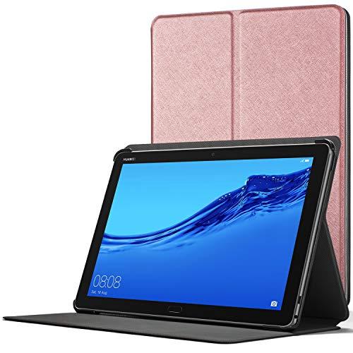 Forefront Cases Smart Funda para Huawei Mediapad M5 Lite 10, Estuche Protector con Cierre Magnético para Mediapad M5 Lite 10 Pulgadas, Smart Auto Sueño Estela Función, Oro Rosa