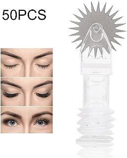 Tattoo Pen Needles for Handmade Eyebrow Sticks, Eye Pencil Tattoo Machine Pin, Semi Permanent Makeup Mist, Disposable Microblading Fog Sterile 7/10 mm Eyebrow Needle (L-50pcs)