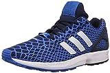 adidas ZX Flux Techfit - Zapatillas para hombre, Azul / Azul marino / Blanco, 40