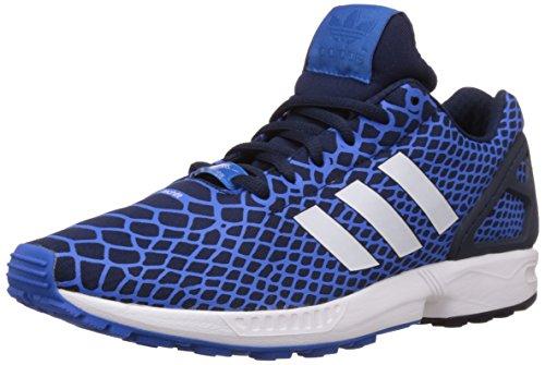 adidas Herren ZX Flux Techfit Low-Top, Blau (Bluebird/Collegiate Navy/Ftwr White), 44 2/3 EU