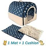 ANPI 2 en 1 Casa y Sofá para Mascotas, Casa Cama de Perro Gato Puppy...