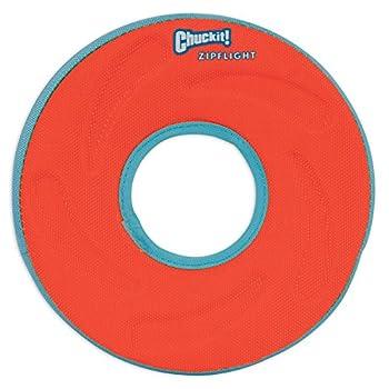 Chuckit Zipflight Frisbee Flottant/Planant un Jouet Polyvalent pour Chien Taille M - couleur aléatoire