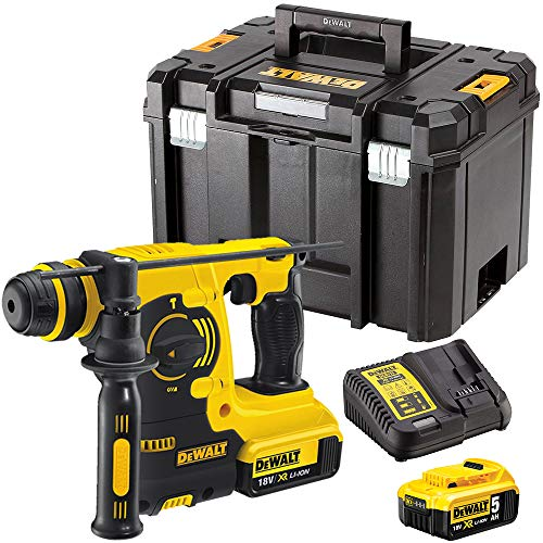 Dewalt DCH253N 18V SDS+ Rotary Hammer Drill with 2 x 5.0Ah Batteries & Charger in Case