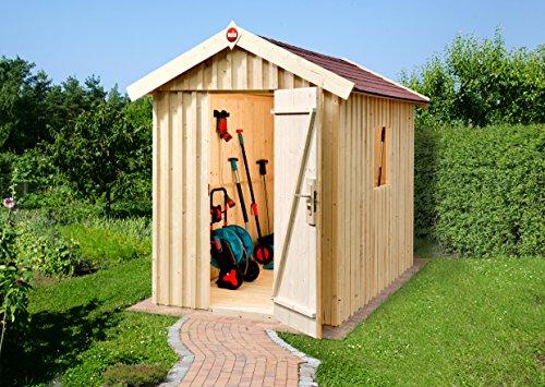 Weka Gartenhaus Schwedenhaus Größe 1 natur