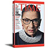 """Ruth Bader Ginsburg RBG Office Wall Decor Artwork Art 12"""" x 18"""" Wooden Framed The 100 Most Influential People Poster Canve Art Living Room Bedroom Art, Stretched and Ready to Hang"""