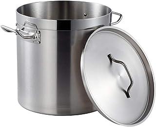 WQF Cacerola Grande Profunda de Acero Inoxidable para cocinar Cazuela Tapa de Vidrio Base de inducción, 28 cm (17 litros)