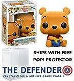 POP Funko Disney Winnie The Pooh Flocked Hot Topic Exclusive & Defender Protector Bundle