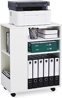 Meerveil Caisson de Bureau, Meuble Rangement Bureau avec Etagères et roulettes Moderne et Simple pour Bureau Salle d'Etude...