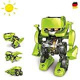 Juego de construcción 4en 1con dinosaurios y robot, juguete eléctrico pedagógico, accionamiento mediante energía solar