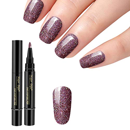Gel-Nagellack-Stift-Kit mit UV-Licht, Gel-Nagel-Starter Farben One Step Gel-Nagel-Stif Nail Art 1 PC 3 in 1 Schritt-Nagel-Gel-Anstrich-Lack-Stift Ein Schritt-Nagel, zum des UVgels zu verwenden