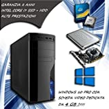 PC FISSO COMPUTER DESKTOP INTEL CORE i7 - RAM 16 GB - SSD 120 HDD 1TB - SCHEDA...