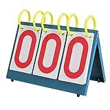 IRIS Portable Table Top 3-Digit Scoreboard | Easy-Flip Indoor/Outdoor Scorekeeper | Professional/Recreational Coach