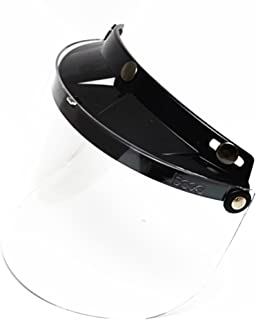 0408e232 E-Bro 3 Snap Flip Up Visor Face Shield Lens for Open Face Motorcycle Helmets
