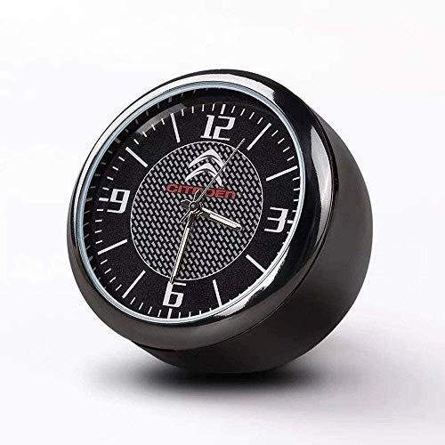 Runde Auto Uhr, Armaturenbrett Uhr, Hohe Genauigkeit Quartz Luminous Dial, perfekte Auto-Dekoration mit Vent Clip und doppelseitiges Klebeband for Auto (C-ITROEN)