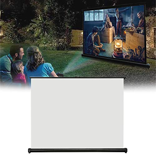 LXNQG Table Top Projector Screen, Adjustable Projection Screens Meeting Desktop Projector Whiteboard with Easy To Install for Home Cinema Outdoor Projector Film Screen (Size : 40inch)