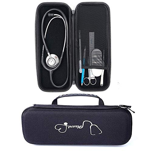 Tragetasche für 3M Littmann Lightweight II S.E. 3M Littmann Classic III 5870 Classic III Stethoskop Reisetasche (schwarz)