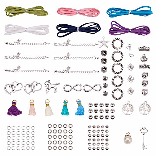 SUNNYCLUE DIY 6 filamento de cuero de gamuza Wrap Bracelet Making Kit...