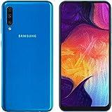 Samsung Galaxy A50 A505F (128GB + 4GB RAM) Dual SIM 4G LTE 6.4 Inch Unlocked GSM w/Triple Camera (25MP+8MP+5MP) International Version (LTE Asia Africa Europe Cuba Digitel) NO CDMA - Blue (Blue)